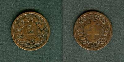 1851 Schweiz SCHWEIZ 2 Rappen 1851 A f.ss fast ss