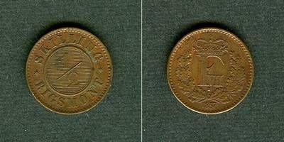 1857 Dänemark DÄNEMARK 1/2 Skilling 1857 vz-stgl. vz-stgl.