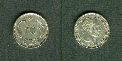 1891 Dänemark DÄNEMARK 10 Öre 1891 CS vz+ selten vz+