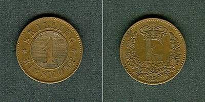 1856 Dänemark DÄNEMARK 1 Skilling 1856 ss-vz/vz ss-vz/vz