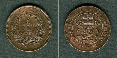 1854 Luxemburg LUXEMBURG 5 Centimes 1854 f.vz fast vz