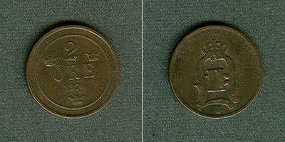 1874 Schweden SCHWEDEN 2 Öre 1874 ss/ss- ss/ss-