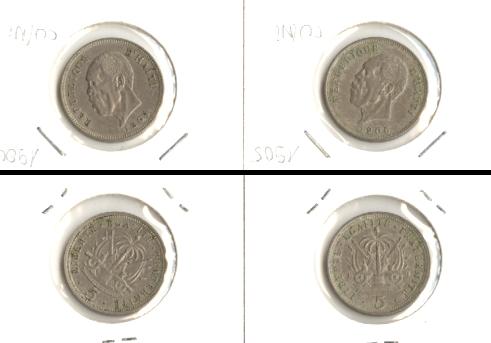 1904-1905 Haiti Lot: HAITI 2x Münzen 5 Centimes [1904-1905]