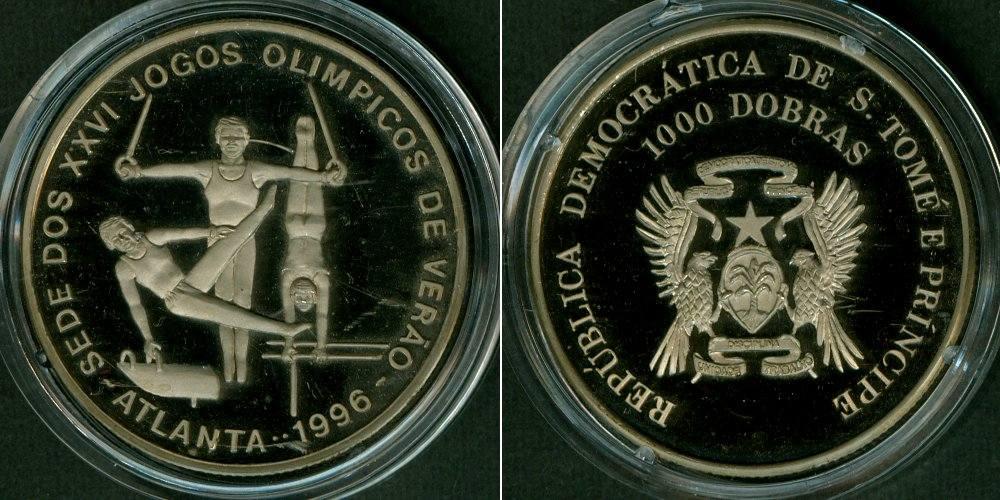 1993 Australien SAINT THOMAS & PRINCE ISLAND / São Tomé e Príncipe 1000 Dobras 1993 OLYMPIA f.stgl. f.stgl. aus PP