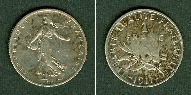 1911 Frankreich FRANKREICH 1 Franc 1911 ss+ ss+