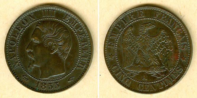 1855 Frankreich FRANKREICH 5 Centimes 1855 A ss-vz ss-vz