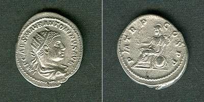 218 Elagabal Marcus Aurelius Antoninus Pius Felix ELAGABALUS Antoninian RAR! vz/ss+ [218] vz/ss+