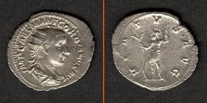 240 Gordianus III. Marcus Antonius GORDIANUS III. Pius Antoninian vz- [240] vz-