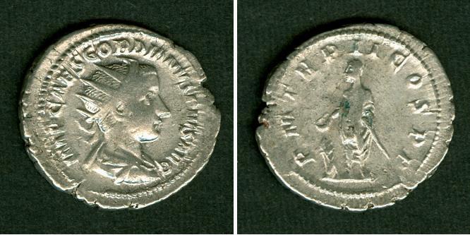240 Gordianus III. Marcus Antonius GORDIANUS III. Pius Antoninian ss selten [240] ss