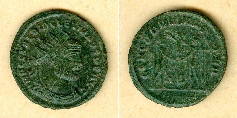 295-296 Diocletianus Caius Valerius DIOCLETIANUS Antoninian ss-vz [295-296] ss-vz