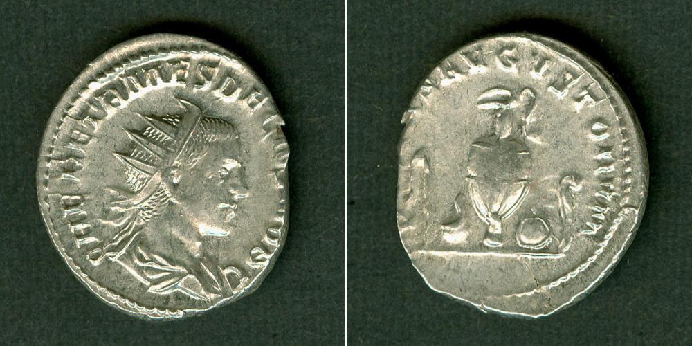 250-251 Traianus Decius Quintus HERENNIUS ETRUSCUS Antoninian selten f.vz/ss+ [250-251] f.vz/ss+