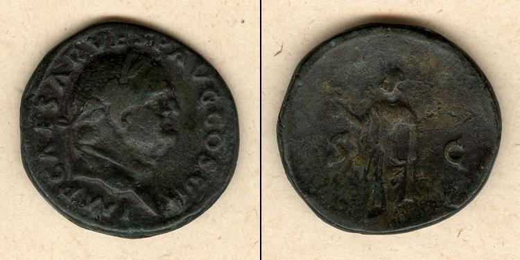 76 Vespasianus Titus Flavius VESPASIANUS As ss+ [76] ss+