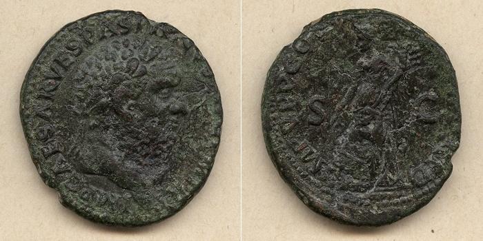 70 Vespasianus Titus Flavius VESPASIANUS As vz selten! [70] vz