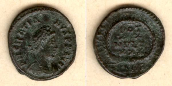 378-383 Gratianus Flavius GRATIANUS Kleinbronze selten ss-vz [378-383] ss-vz