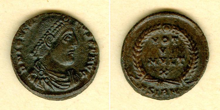 363-364 Jovian Flavius JOVIANUS Kleinbronze vz [363-364] vz
