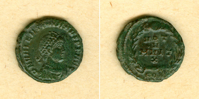 378-383 Valentinianus II. Flavius VALENTINIANUS II. AE4 Kleinbronze selten! f.vz/ss [378-383] f.vz/ss