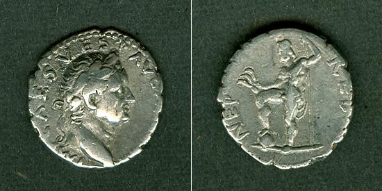 72-73 Vespasianus Titus Flavius VESPASIANUS Denar ss+ selten [72-73] ss+