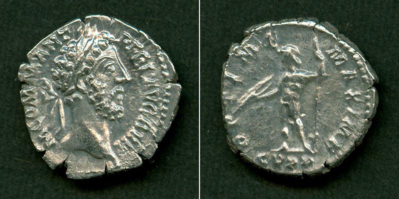 186-189 Commodus Lucius Aelius Aurelius COMMODUS Denar ss+ selten [186-189] ss+