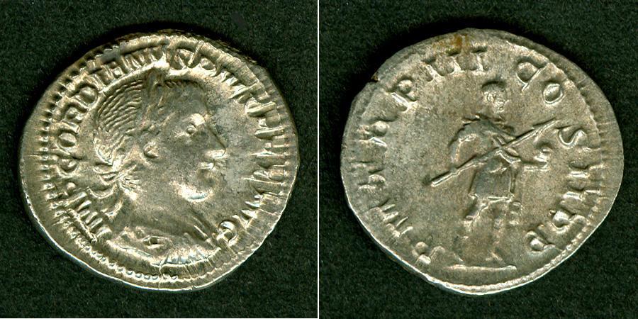 241-243 Gordianus III. Marcus Antonius GORDIANUS III. Pius Denar selten! ss-vz [241-243] ss-vz