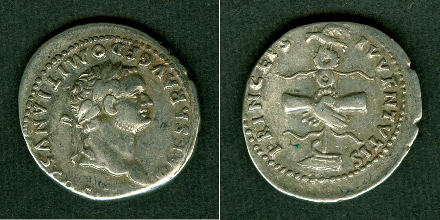 79 Domitianus Titus Flavius DOMITIANUS Denar ss+ [79] ss+