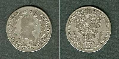 1789 Haus Habsburg Österreich RDR 10 Kreuzer 1789 B (Ungarn) s-ss/ss s-ss/ss