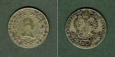 1803 Haus Habsburg Österreich RDR 20 Kreuzer 1803 E (Ungarn) s-ss s-ss