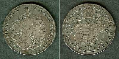 1787 Haus Habsburg Österreich Ungarn RDR 1/2 Taler 1787 A ss/ss+ ss/ss+