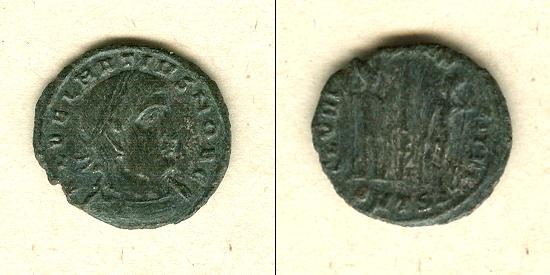 336-337 Delmatius Flavius Julius DELMATIUS Follis ss+ selten! [336-337] ss+
