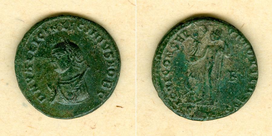 317-320 Licinius II. Fl. Val. Licinianus LICINIUS II. Follis vz/ss selten! [317-320] vz/ss
