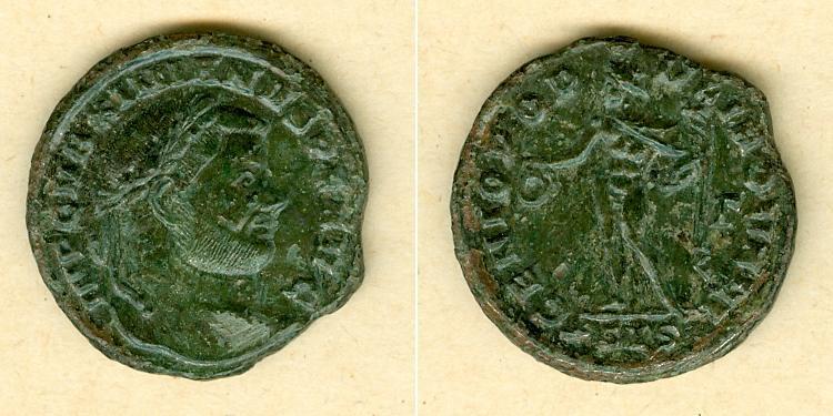 295 Maximianus Herculius Marcus Aurelius Valerius MAXIMIANUS (Herculius) Groß-Follis vz [295] vz