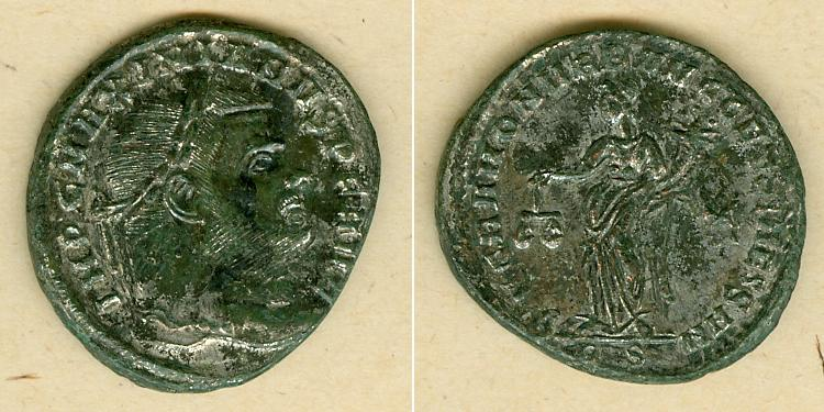 302-303 Maximianus Herculius Marcus Aurelius Valerius MAXIMIANUS (Herculius) Groß-Follis vz [302-303] vz