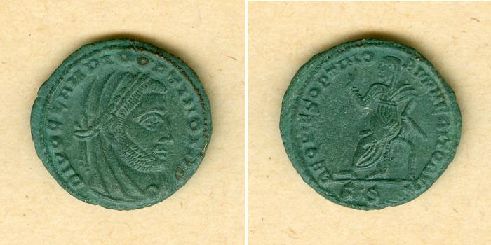 317-318 Claudius II. Gothicus M. Aurelius CLAUDIUS II. GOTHICUS 1/2 Follis DIVVS vz selten! [317-318] vz