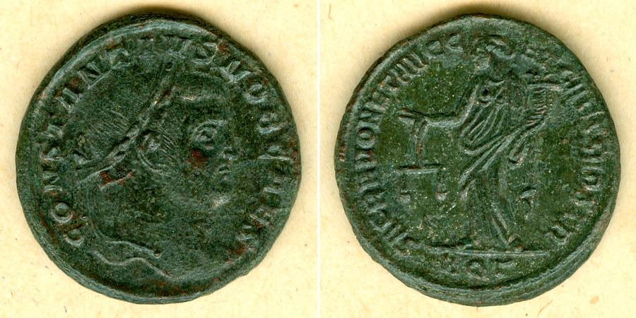 300 Constantius I. Flavius Valerius CONSTANTIUS I. (Chlorus) Groß-Follis ss-vz/vz [300] ss-vz/vz