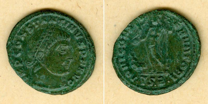 317-318 Constantinus I. Flavius Valerius CONSTANTINUS I. (der Große) Follis ss+ selten [317-318] ss+