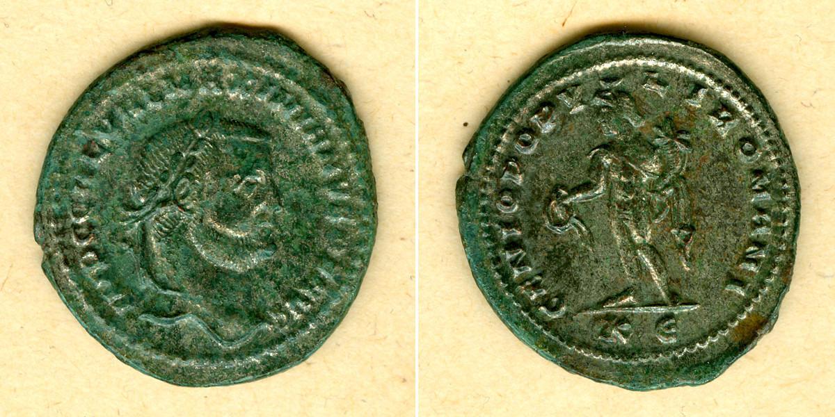305-306 Galerius Caius GALERIUS Valerius Maximianus Groß-Follis ss-vz [305-306] ss-vz