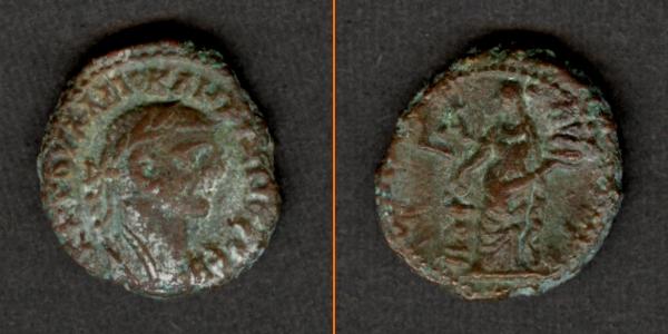 284-285 Diocletianus Caius Valerius DIOCLETIANUS Provinz Tetradrachme ss+ [284-285] ss+