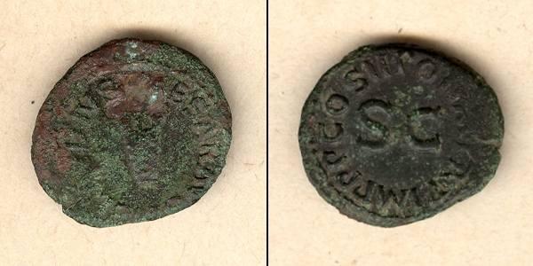 41-42 Claudius I. Tiberius CLAUDIUS (I.) Nero Germanicus Quadrans [41-42]