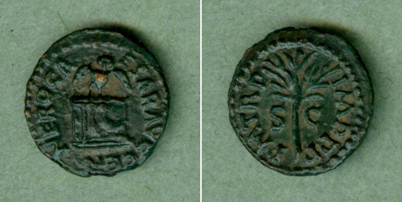 64-65 Nero NERO Claudius Caesar Quadrans ss-vz selten! [64-65] ss-vz