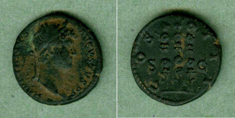 128-132 Hadrianus Publius Aelius HADRIANUS Quadrans f.vz selten [128-132] f.vz