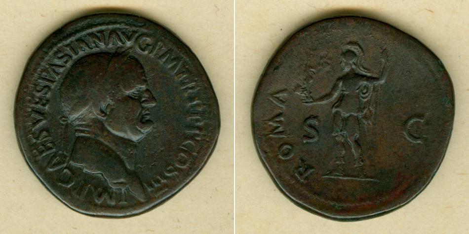 71 Vespasianus Titus Flavius VESPASIANUS Sesterz ss(+) [71] ss