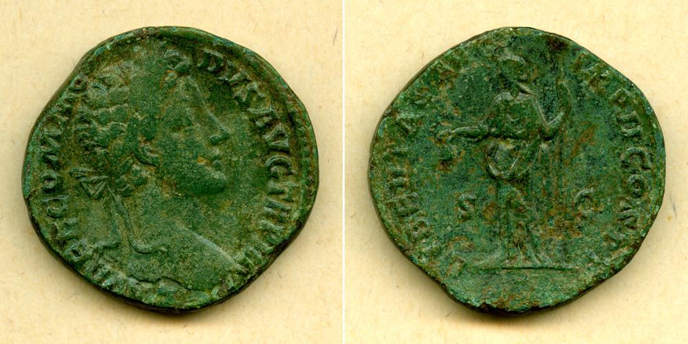 178 Commodus Lucius Aelius Aurelius COMMODUS Sesterz ss+ [178] ss+