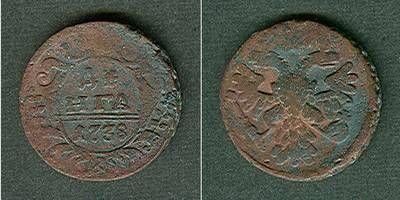 1738 1/2 Kopeke Russland 1/2 Kopeke (Denga) 1738 s-ss s-ss
