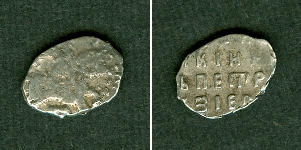 1682-1725 1 Kopeke Russland (Draht-) Kopeke Peter I. s/ss+ [1682-1725] s/ss+