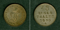 Mecklenburg  Mecklenburg Schwerin 1/48 Taler 1855 A  vz-st