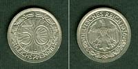 Weimarer Republik  DEUTSCHES REICH 50 Reichspfennig 1936 G (J.324)  vz