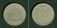 Kleinmünzen 10 Pfennig  DEUTSCHES REICH 10 Pfennig 1896 G (J.13)  s-ss  selten!