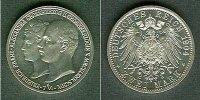 Mecklenburg-Schwerin  Mecklenburg Schwerin 2 Mark 1904 A  f.stgl. aus PP!