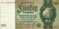 Drittes Reich, Reichsbank  50 REICHSMARK 1933  Ro.175b  Friedensdruck  II