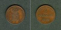 Sachsen-Meiningen  Sachsen Meiningen 2 Pfennige 1863  vz