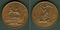Medaillen und Jetons  Medaille FRANKREICH 1820 Heinrich V.  BRONZE  vz